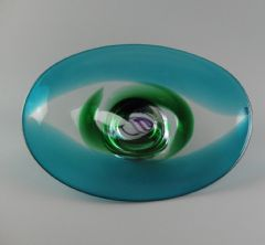 Caithness Glass Freestyle Bullicante Pedestal Bowl by John Christie  62 / 250